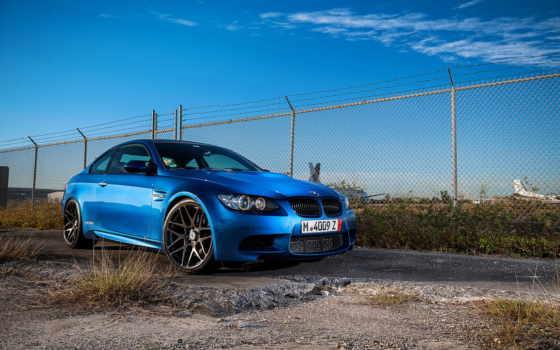 bmw, blue