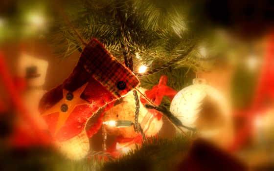 christmas, носок, год