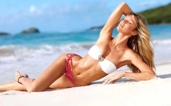модель, candice, пляже, swanepoel, blonde, девушка, сикрет, песок, виктории, angel, купальник,