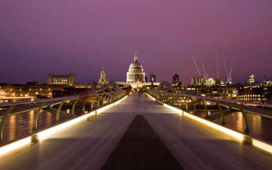 города, огни, город, мост, вечер, анимация, флот, строения, макро, анимации,