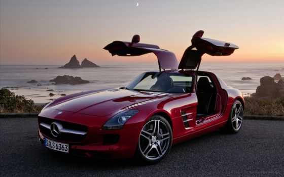 red, benz, мерседес, mercedes, merсedes, amg, sls,