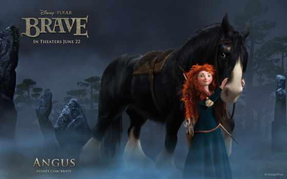 brave, сердцем, храбрая