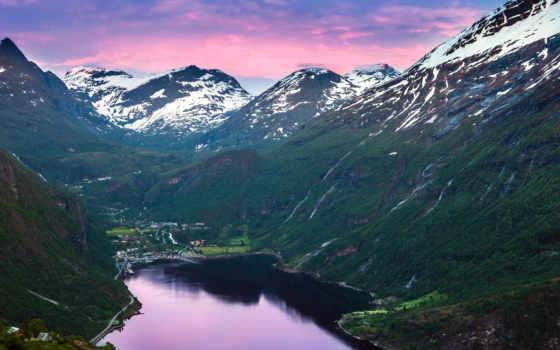 norwegian, горы, fjord, норвегия, geiranger,