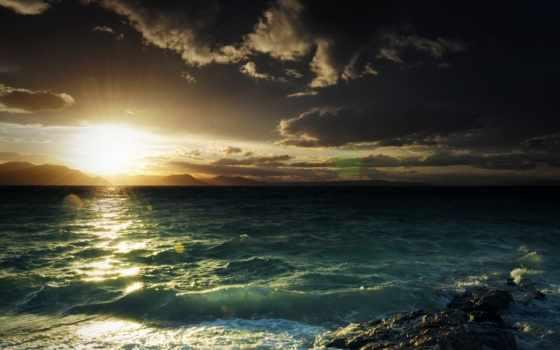 море, волны, природа