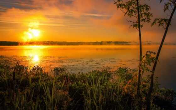 озеро, природы, sun