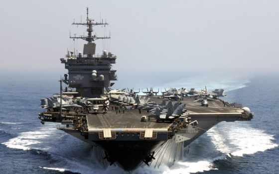 сша, американские, военный, военного, корабля, авианосца,