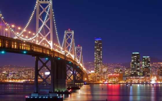 san, francisco, мост, золотистый, gate, город, california,