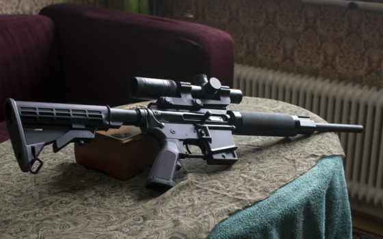 винтовка, пистолет, assault