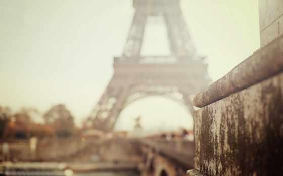 город, эйфелева, париж, turret, города, focus, боке, ipad,