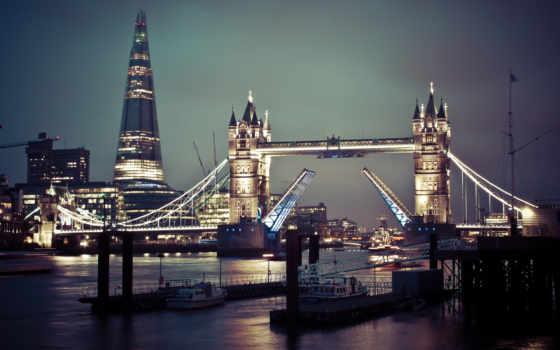 ук, london, мост, тауэрский, великобритания, thames, река, город,