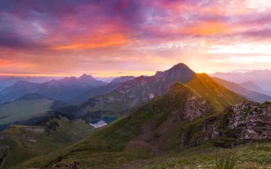 ipad, gora, природа, zakat, chaussy, pic, альпы, air, ноутбук, мини, гора