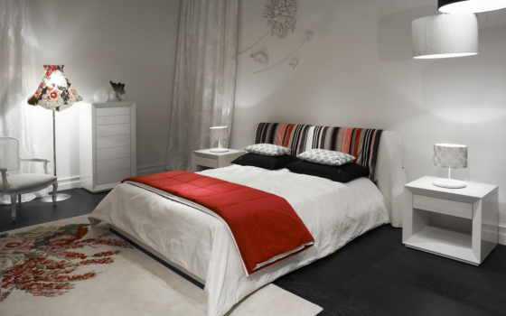 спальня, белый