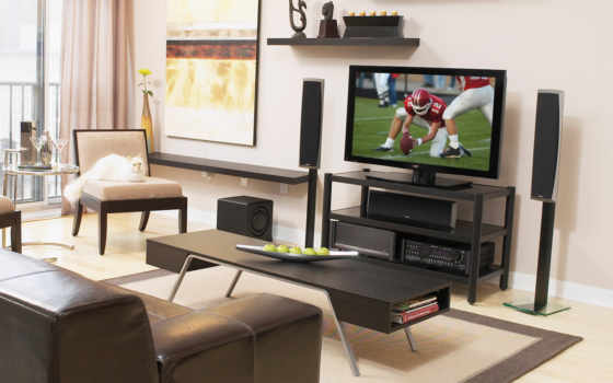 телевизор, room, living
