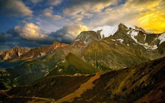 горы, горах, горные, кыргызстана, небо, тян, озера, закат, hunting, долина,