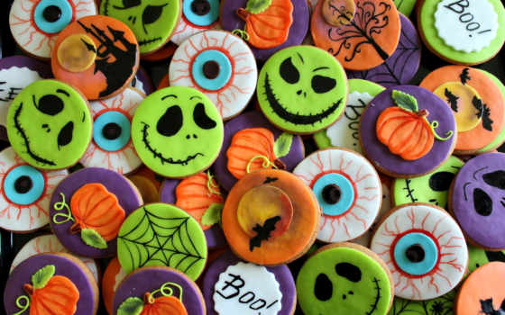 halloween, cookie, праздник,