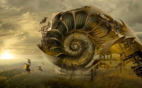 будущего, ساختمان, flying, milivojevic, petar, fantasy, shell, архитектура, future, belgrade, serbia, giant, artwork, tags, snail, trúc, creature, tướng, kiến,