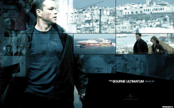 bourne, ultimatum, movie, poster, борна,