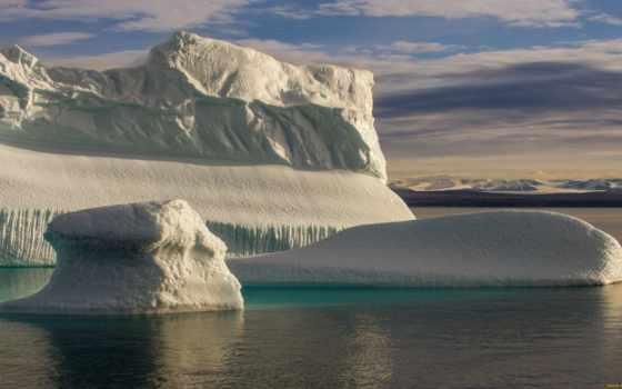 icebergs, tapety, айсберги