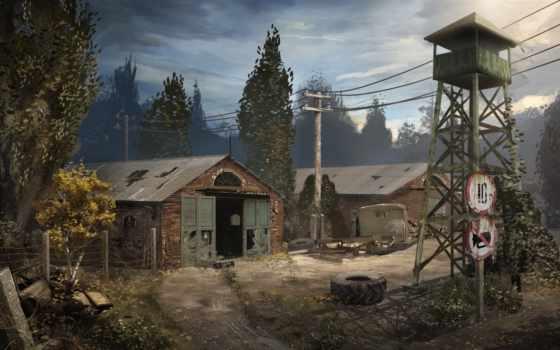 stalker, pripyat, чернобыль, башня, игры,