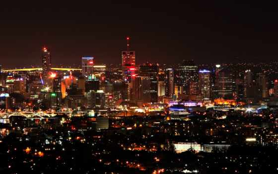 город, огни, ночь
