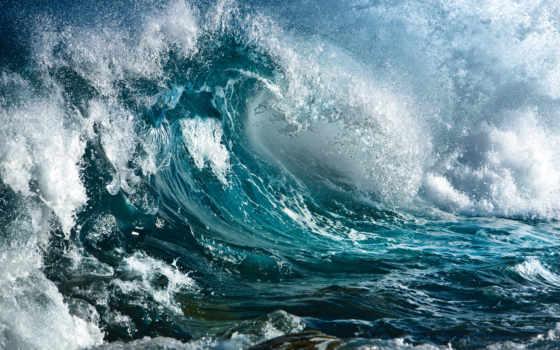 волны, ocean, water