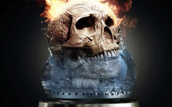 огонь, skull