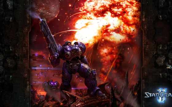 starcraft, starctaft, тайкус, оружие, шпалери, ipad, воин, доспехи, marine, буря, огненная, заставки,