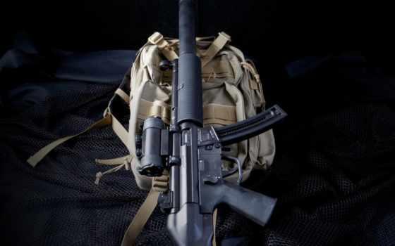 оружие, пп, heckler&koch, mp5, оптика, глушитель, рюкзак
