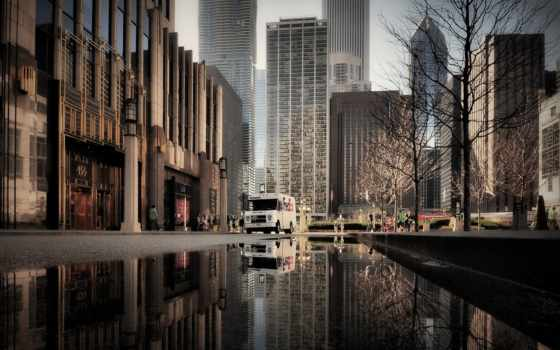 chicago, иллинойс, лужи
