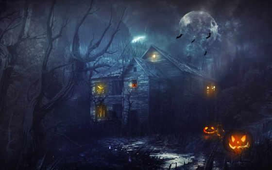 halloween, тыквы, house
