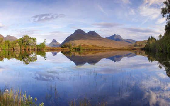 шотландия, природа, landscape, mountains, озеро, landscapes, гора,