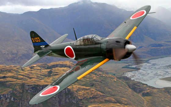 mustang, white, войны, world, японии, second, mitsubishi, самолеты, zero, времён, назад,
