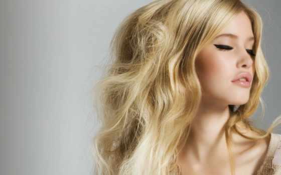 blonde, закрытыми, глазами, волосы, красивая, pagh,