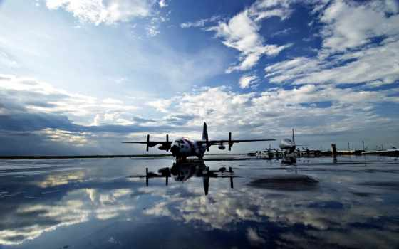 самолеты, небо, вода, полоса, аэропорт, ago, months, картинка, обоину, аэродром, картинку, отражение, винты, iphone, planes, онлайн, aviation, clouds, aircraft, просмат,