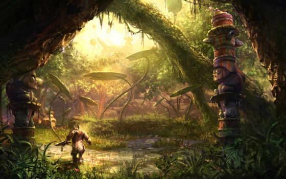tera, online, грот, монстр, заброшенность, статуя, вода, patch, arborea, realm, exiled, fantasy, игры, часть,