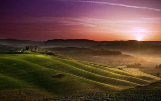 поля, tuscany, качестве
