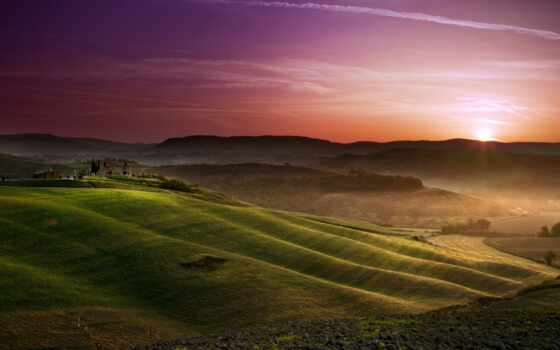 поля, tuscany