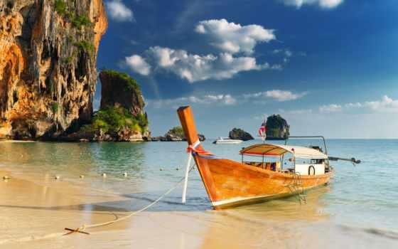 пляж, нанг, krabi, аоь, пещера, railay, солнца, rub,