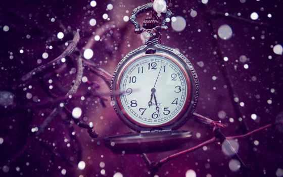 часы, time, сиреневый, bokeh,