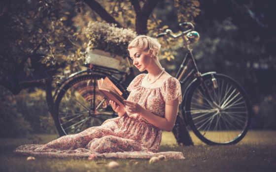 велосипеде, фото, девушка, фотосессия, картину, идеи,
