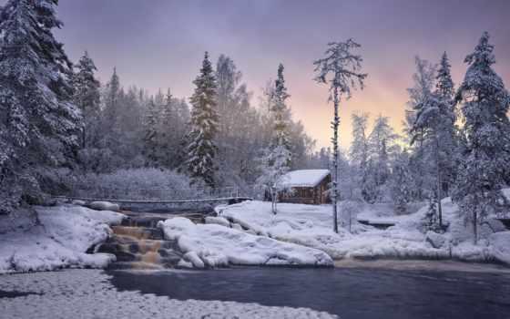winter, водопад, ahvenkoska, карелия, sortavat, ruskeal, park, коллекция