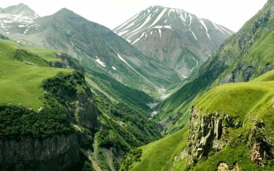 горы, зеленые, фотообои