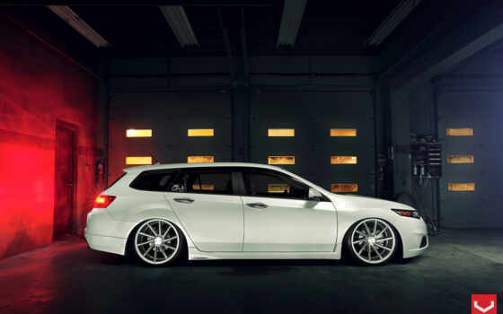 acura, honda, white, tsx, тюнинг, wagon, pictures,
