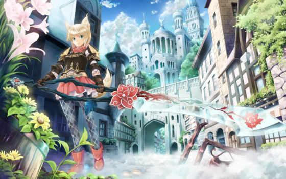 anime, art, меч