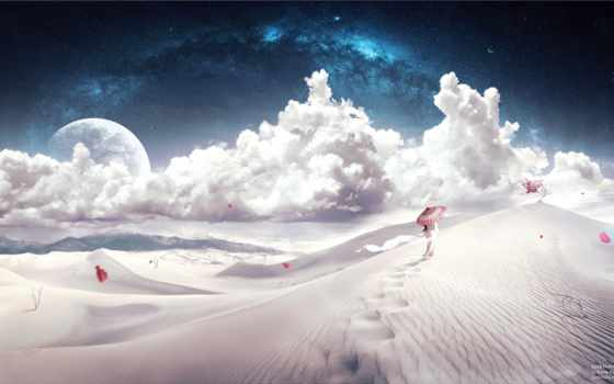 пустыня, fantasy, барханы