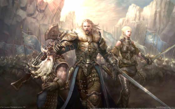 kingdom, огонь, под, игровые, fantasy,