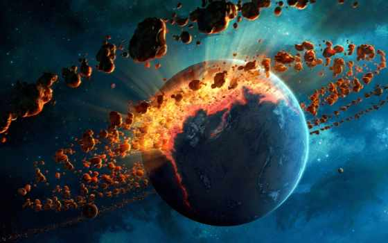 cosmos, planet, планеты, bang, art, фантастика, уничтожение, belt, метеоритный,