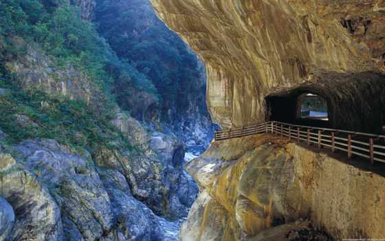 wallpaper, taiwan, wallpapers, hd, gorge, hualien, за, тунел, скали, город, taroko, nature, mountains, into, it, се, tags,