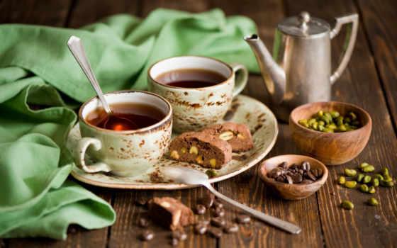 кофе, зерна, чашки