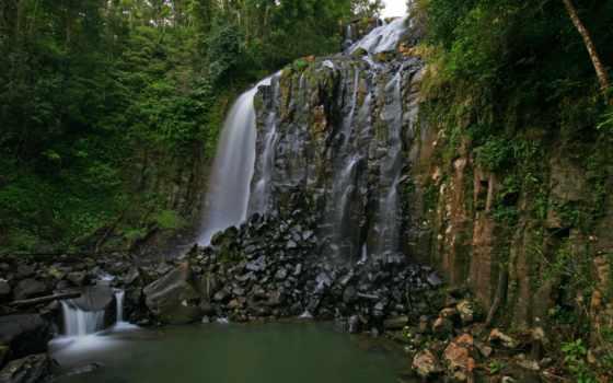 queensland, картинка, природа, waterfalls, изображение, desktop, австралия, скалы,